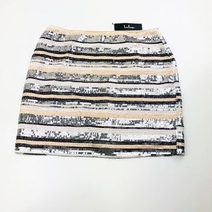 [Lulus] Peach and Silver Sequin Mini sz L NEW